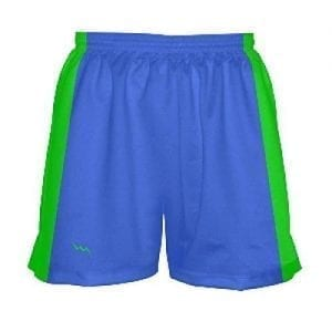 Neon-Green-and-Blue-Girls-Lax-Shorts