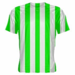 Neon Green and White Soccer Jerseys