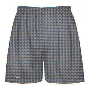 Orange Blue Houndstooth Shorts