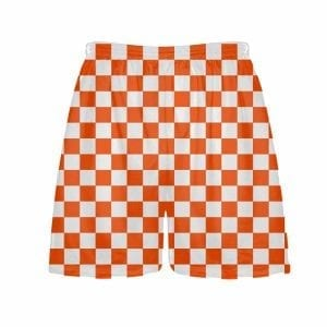 Orange-Checker-Board-Shorts