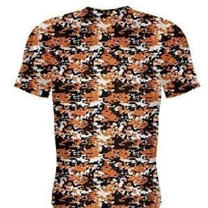 Orange Camo Basketball Shirts