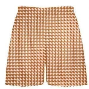 Orange Houndstooth Shorts