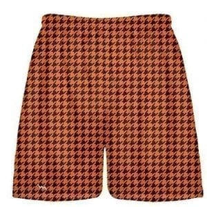 Orange Maroon Houndstooth Shorts