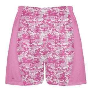 Pink Cancer Digital Camouflage Lacrosse Shorts
