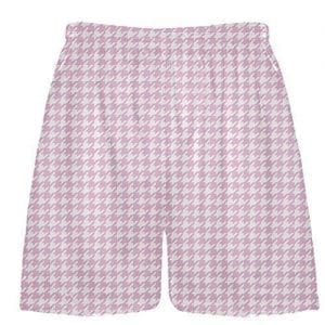 Pink Houndstooth Shorts