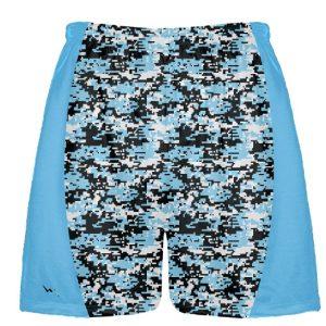 Powder Blue Digital Camouflage Lacrosse Shorts