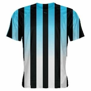 Powder Blue and Black Soccer Jerseys