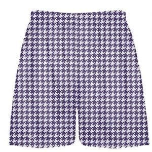 Purple Houndstooth Shorts