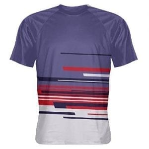 Purple Navy Abstract Shirts