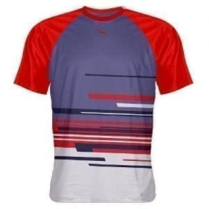 Purple Red Abstract Shooter Shirts