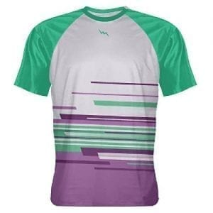 Purple Teal Custom Abstract Tshirt