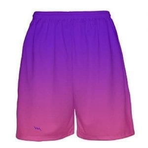 Purple-To-Pink-Fade-Basketball-Shorts