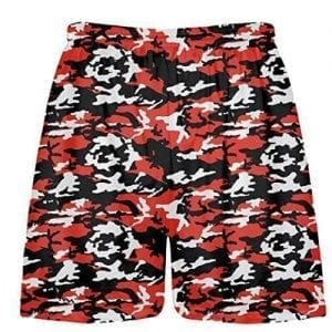 Red Camouflage Shorts