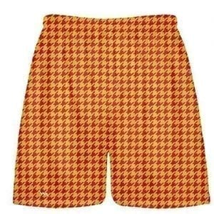 Red Gold Houndstooth Shorts