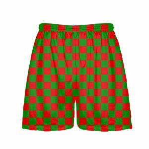 Red-Green-Checker-Board-Christmas-Shorts