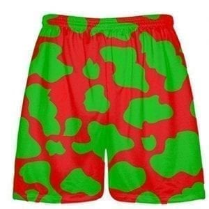 Red Green Cow Shorts
