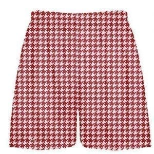 Red Houndstooth Shorts