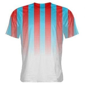 Red and Light Blue Soccer Jerseys