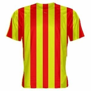 Red-and-Yellow-Striped-Soccer-Uniforms