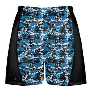 Royal Blue Digital Camouflage Lax Shorts
