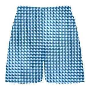 Royal Blue Houndstooth Shorts