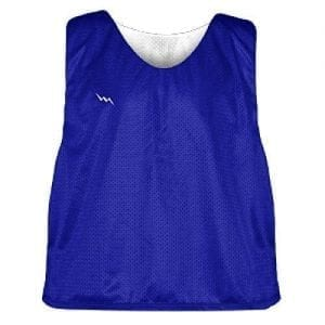Royal Blue and White Soccer Pinnies