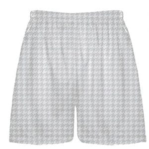 Silver Houndstooth Shorts