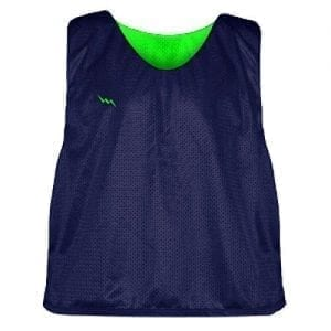Neon Green Blue Soccer Pinnies
