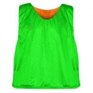 Green Orange Soccer Pinnies