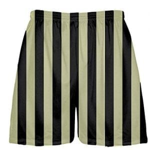 Vegas Gold Black striped lacrosse shorts