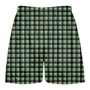 Tartan-Print-Lacrosse-Shorts