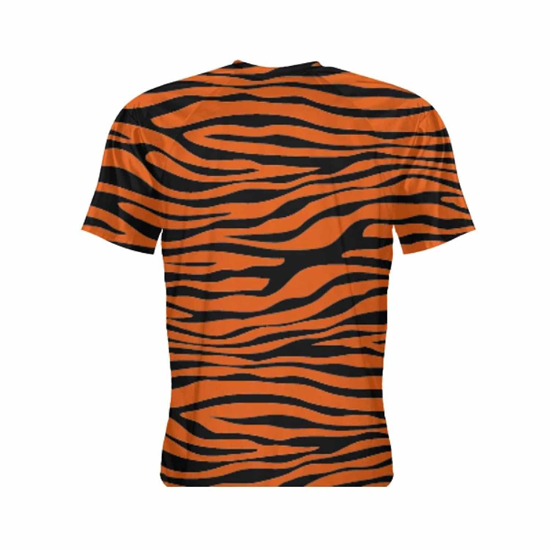 LightningWear Tiger Print Short Sleeve Shirt – Tiger Shirts – Tiger Print  Shirts – Orange Tiger Stripe Shirts
