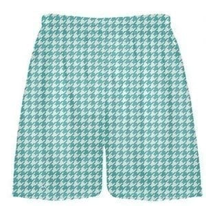Turquoise Houndstooth Shorts