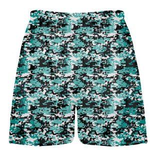 Turquoise Lacrosse Shorts Digital Camouflage