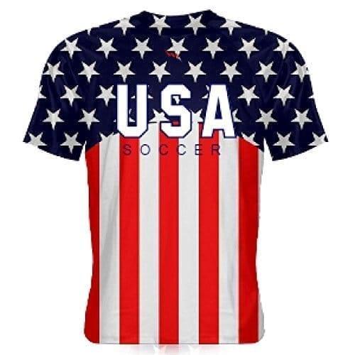reputable site 09d81 bc8db LightningWear USA Soccer Jersey - USA Soccer Shirts - American Flag Shirts  - America Soccer