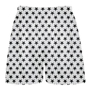 White Black Stars Shorts