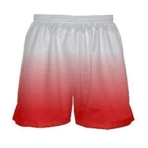 White Red Fade Girls Shorts