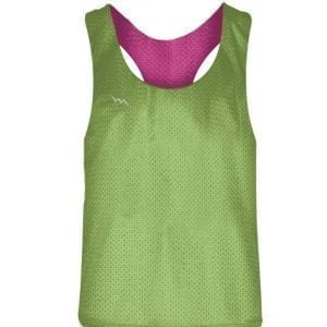 Blank Pinnies for Girls Neon Green Hot Pink