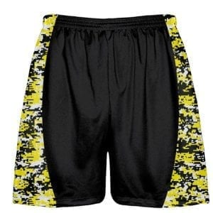 Yellow-Digital-Camouflage-Lacrosse-Shorts