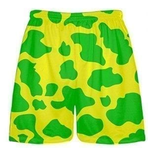 Yellow Green Cow Shorts