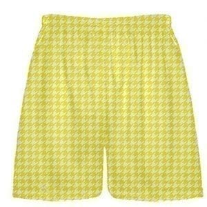 Yellow Houndstooth Shorts