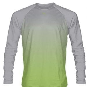 Lime-Green-Long-Sleeved-Lacrosse-Shirts