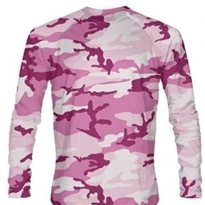 Pink-Camouflage-Long-Sleeved-Shirts