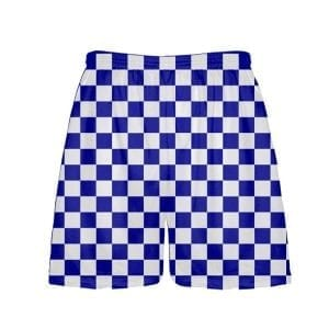 Royal Blue Checker Board Shorts