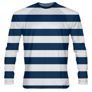Navy-Blue-Striped-Long-Sleeve-Shirts