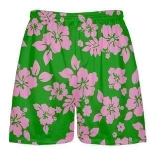 Green-Pink-Hawaiian-Lacrosse-Shorts