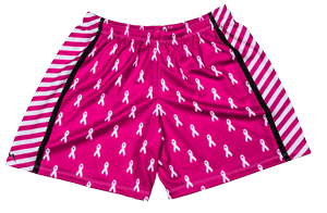 womens-cancer-ribbon-shorts