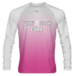 Volley For The Cure Pink White Long Sleeve Shirt