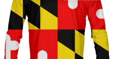 Maryland Flag Long Sleeve Shirts