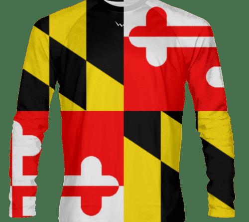 Maryland Flag Long Sleeve Shirts